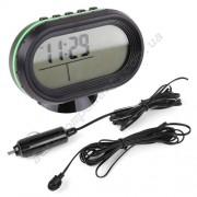 Авточасы 7009VBO LCD автомобильные часы с функцией будильника, календаря, термометра (t внутри,t за бортом, обновление датчика 60с)