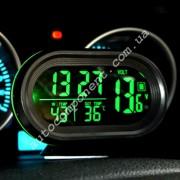 Авточасы 7009VOG LCD автомобильные часы с функцией будильника, календаря, термометра (t внутри,t за бортом, обновление датчика 20с)
