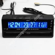 Авточасы 7010V LCD автомобильные часы с функцией будильника, календаря, термометра (t внутри,t за бортом)