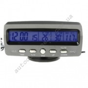 Авточасы 7045 LCD автомобильные часы с функцией будильника, календаря, термометра (t внутри,t за бортом, обновление датчика 20с)