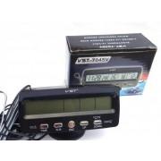 Авточасы 7045V LCD автомобильные часы с функцией будильника, календаря, термометра (t внутри,t за бортом, обновление датчика 20с)