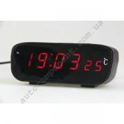 Авточасы 803С-1 LCD автомобильные часы с функцией будильника, календаря, термометра (t внутри), питание от встроенной батареи и прикуривателя