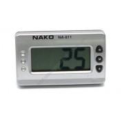 Авточасы 811А Часы цифровые универсальные, корпус прямоугольный, серебро, крепление шарнир, формат 12 часов