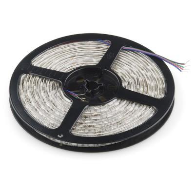 Гибкая светодиодная лента 300 SMD 3528, 5м, 12V, 8мм*2,7мм, влагостойкая, белая (белая основа)