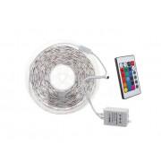 Гибкая светодиодная лента 300 SMD 3528, 5м, 12V, 8мм*2,7мм, влагостойкая, мультиколор с контроллером