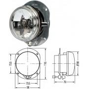 Противотуманный световой модуль D 90мм Hella 1N0008582007  (Н7) без упаковки