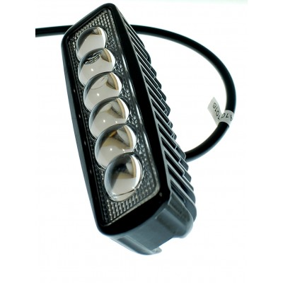 Светодиодная фара AllLight JR-6D-G06-18W 6chip EPISTAR spot линза 9-30V