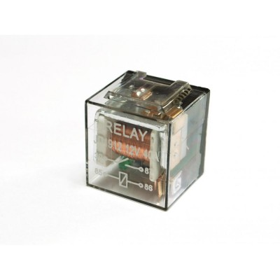 Реле 4-контактное с кронштейном прозрачное с диодом