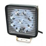 Светодиодная фара AllLight 06type 27W 9chip EPISTAR spot  9-30V (тонкий радиатор)