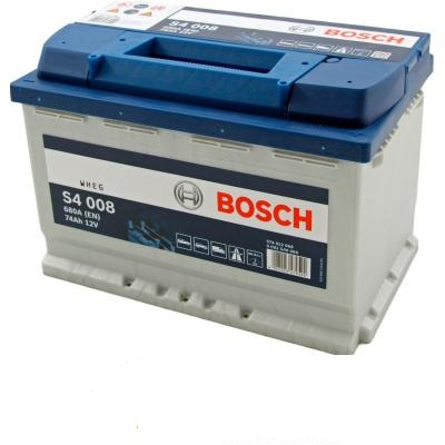 Автомобильный аккумулятор 0092S40080 S4  SILVER   74 А*ч  -/+   680A