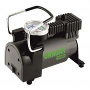 Автомобильный компрессор Uragan однопоршневой 37 л/мин с манометром / 90120