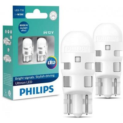 Автолампа диоды PHILIPS 11961ULWX2 T10 LED 6000K 12V B2