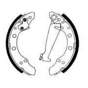 Тормозные колодки Bosch барабанные задние AUDI 100/SEAT Inca/VW Passat/Caddy II/Golf 0986487281