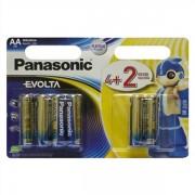 Батарейки PANASONIC EVOLTA ALKALINE AA 1.5V LR06 (4+2шт) (LR6EGE/6B2F)