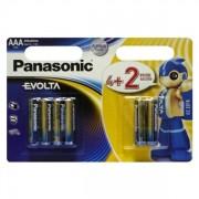 Батарейки PANASONIC EVOLTA ALKALINE AAA 1.5V LR06 (4+2шт) (LR03EGE/6B2F)