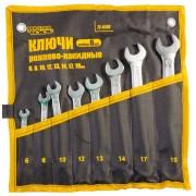 Набор рожково-накидных ключей MasterTool - 8 шт. 6-19 мм холоднокатанный (72-0108)