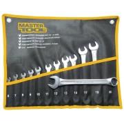 Набор рожково-накидных ключей MasterTool - 12 шт. (6-22 мм) холоднокатанный (72-0112)
