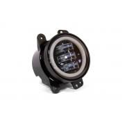 Комплект светодиодных противотуманных фар AllLight FB-411 D=90 мм с ангельскими глазками